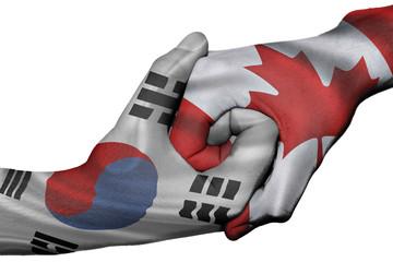 Handshake between South Korea and Canada
