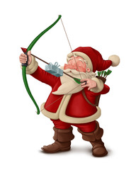 Santa Claus archer - White background