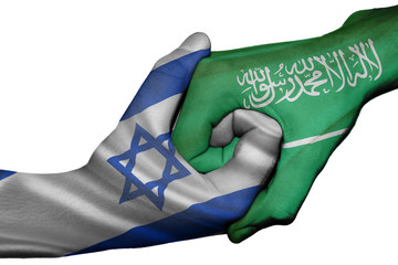 Handshake between Israel and Saudi Arabia