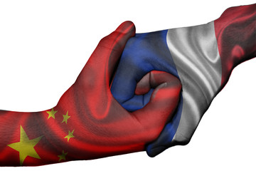 Handshake between China and France