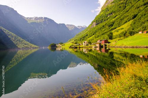 Tuinposter Canyon Nærøyfjord in Norway