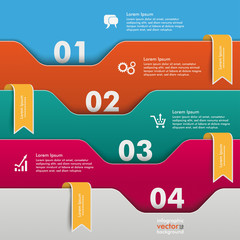 Folders Infographic Orange Flags