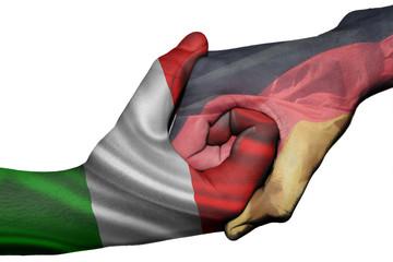 Handshake between Italy and Germany