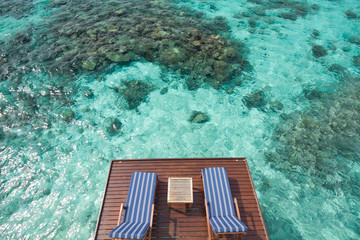Good view from villa in Maldives