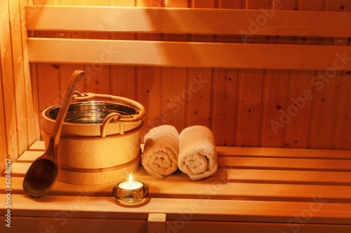 canvas print picture Wellness und Spa in der Sauna
