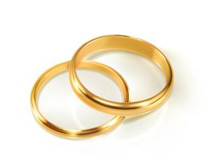Pair of wedding rings, vector illustration