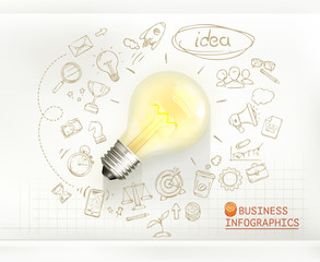 Idea, business infographics vector