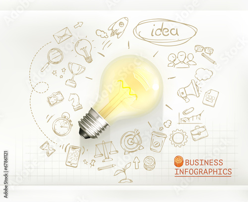 Idea, business infographics vector