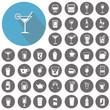Drink icons set. Illustration eps10