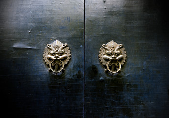 Oriental ancient architecture knocker