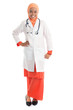 Full length young Muslim female doctor