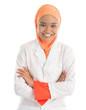 Young Muslim female nurse