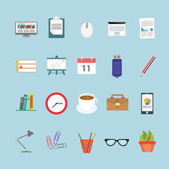 Office icons set. Illustration eps10