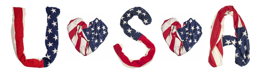 simbols made from American flag