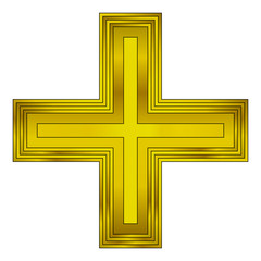 Religious gold cross
