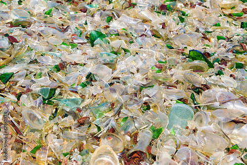 Fototapeta A large amount of trash polluting