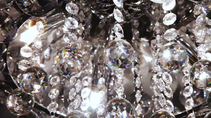crystals on the chandelier