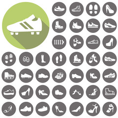 Shoes icons set. Illustration eps10