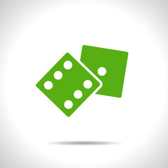 Vector dice icon. Eps10