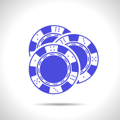 Vector chips  icon. Eps10