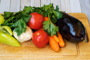 Vegetables prepared for cooking