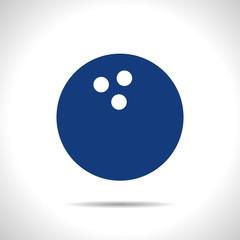 Vector bowling ball icon. Eps10