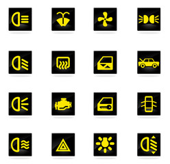 car interface sign