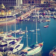 Yachts in Eilat