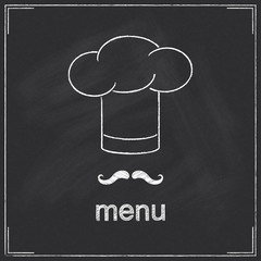 Design for restaurant menu in chalkboard style