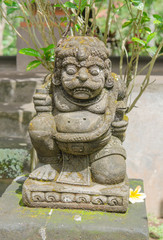 Statue at Goa Gajah temple in Bali