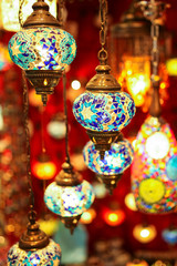Turkish multicolor lamps