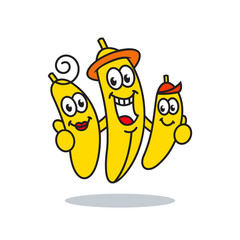 Family bananas vector sign