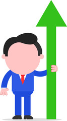 Businessman With Arrow Pointing Up