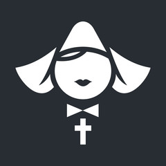 Nun abstract icon