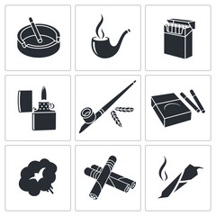 Smoking icon collection
