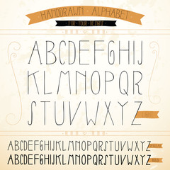 Vector hand-drawn Alphabet