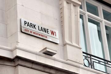 Park Lane Street Sign