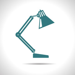 Vector table-lamp icon. Eps10