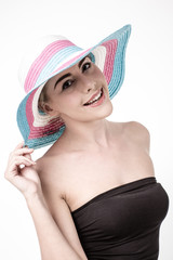 Beautiful woman in a hat