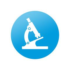 Etiqueta redonda microscopio