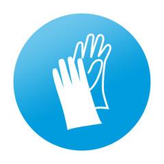 Etiqueta redonda guantes