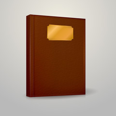 Illustration of brown notebook