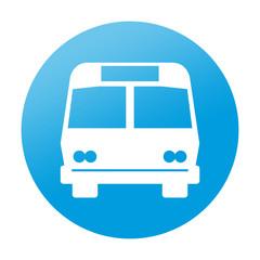 Etiqueta redonda autobus