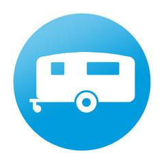 Etiqueta redonda caravana