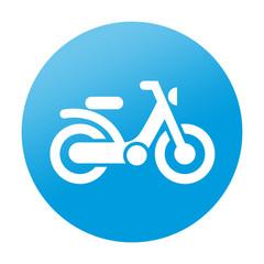 Etiqueta redonda ciclomotor