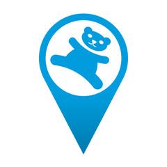 Icono localizacion simbolo osito de peluche