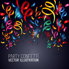 Party Confetti Vector