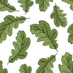 Oak leaf seamless pattern for your design