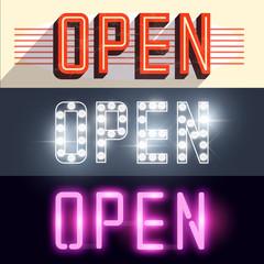 Open Vector Signs