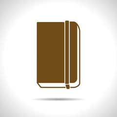 Vector notebook icon. Eps10